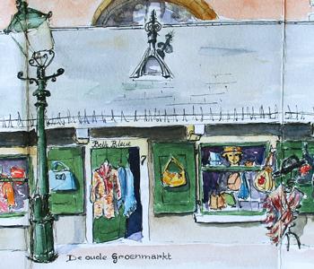 schetsen van Haarlem leideke steur