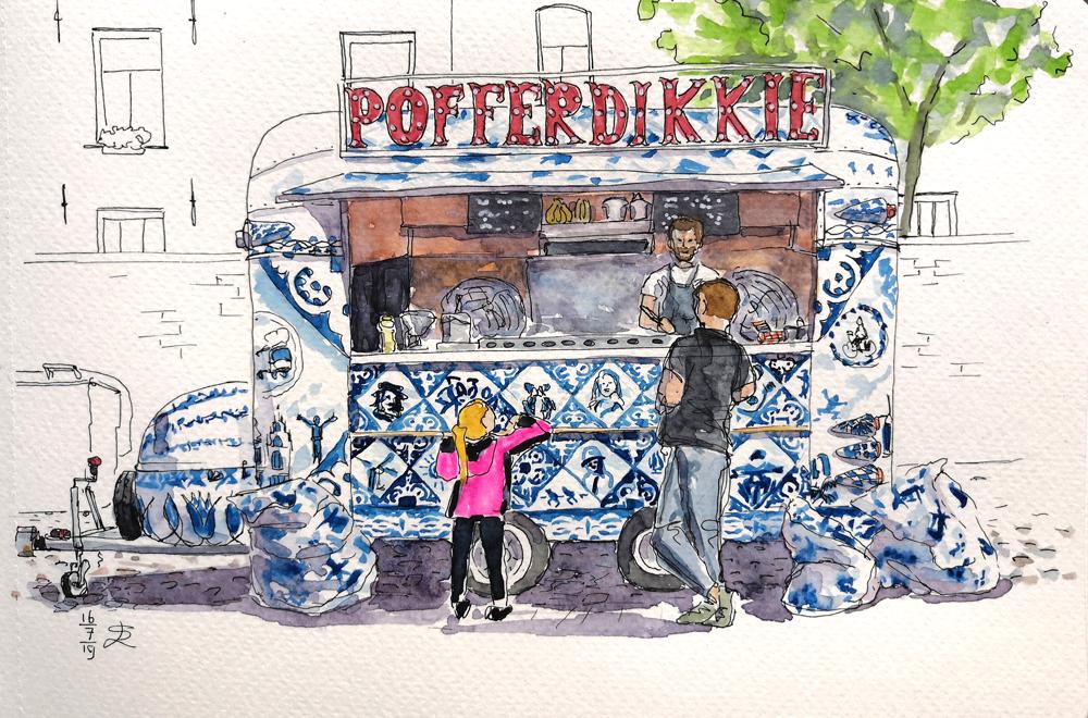 pofferdikkie caravan getekend door leideke steur