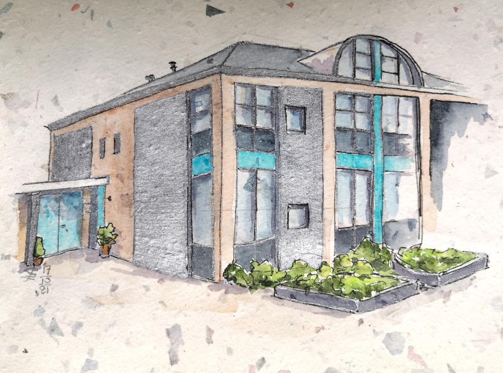Huis met zilveren randjes